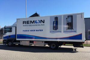 Service vrachtauto Remon Waterbehandeling met afbeedlding Boerderijboiler 3