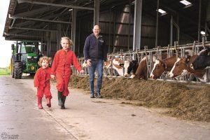 Bert de Groot Melkveebedrijf gaat voor een kuilhapper