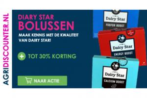 Dairy Star Bolus kennismakingsactie: tot 30% korting!